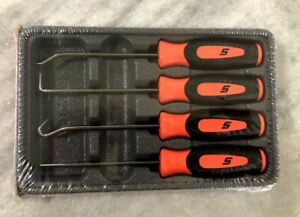 New Snap On Orange 4 Piece Mini Pick Set Sgasa204co