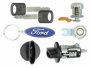 Ford F250 F350 1997 2007 Ignition Cylinder 2 Door Locks With 2 Ford Keys