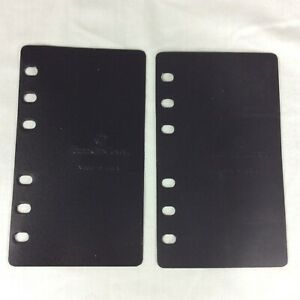 2 End Board Page Lifter Saver Pocket Franklin Covey Planner Binder Plastic Pair