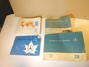 Vintage Oem Mercedes Benz W110 230 Fintail Manuals And Pouch