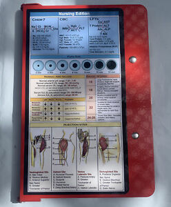 Nursing Edition Foldable Clipboard Red