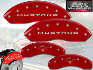 2015 2020 Ford Mustang Ecoboost Std Front Rear Red Mgp Brake Caliper Covers Pony