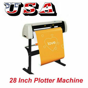 New 28 Vinyl Cutter Plotter Machine 720mm Paper Feed Cutting Machine With Stand