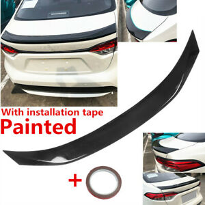 Fit For Toyota Corolla Sedan 2020 2021 2022 Rear Lip Spoiler Shiny Black Painted