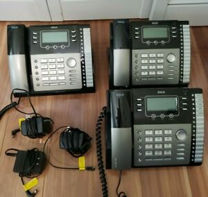 Rca 25424re1 4 line Business Phones Lot Of 3