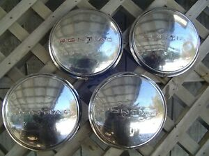 1937 1938 1939 Vintage Pontiac Coupe Chieftain Star Chief Hubcaps Wheel Covers