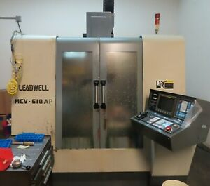 Leadwell Mcv 610ap Cnc Vertical Machining Center With Fanuc