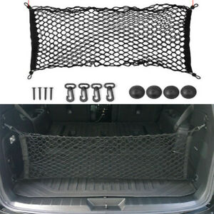 Rear Cargo Organizer Storage Elastic String Net Mesh Bag Pocket Car Accessories