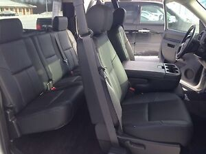 2012 2013 Chevrolet Silverado Ext Cab Black Katzkin Leather Interior Seat Cover