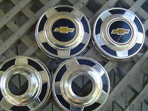 Vintage Chevy Pickup Truck Blazer Van Dog Dish Hubcaps Wheel Covers Center Caps