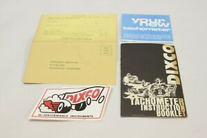 Nos 1960 s Dixco Tachometer User Instruction Manual Sticker Warranty Card Race