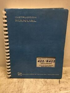 Tektronix Instruction Manual 422 r422 Oscilloscope Ac Power Supply Sn20 000