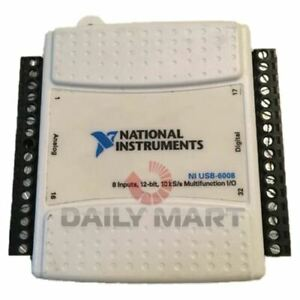 New In Box National Instruments Ni Usb 6008 Data Acquisition Card