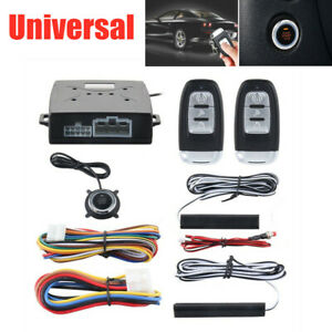 Universal Pke Car Alarm System Passive Keyless Entry Remote Engine Start Stop