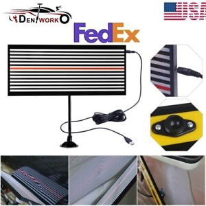 Us Pdr Car Body Dent Paintless Repair Hail Removal Tool Usb Light Led Line Board