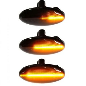 Smoke Sequential Led Side Marker Light 02 07 For Subaru Forester Liberty Impreza