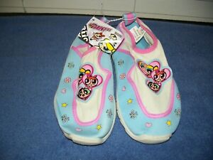 Vintage Ppg Powerpuff Girls Youth Girls 3 Shoes Slip On Gym Or Swim Shoes