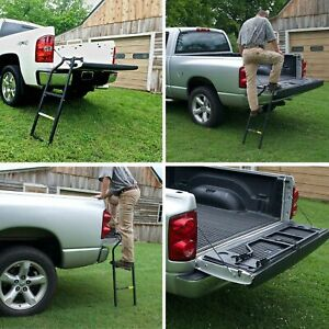 Truck Tailgate Ladder Ford Ranger F150 F250 Chevy Dodge Pickup Step Tundra Ram