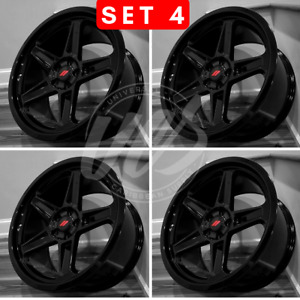 New 22 Inch Gloss Black Style Wheels Rims Offset 20 5x115 Set Of Four