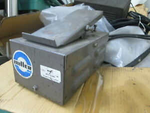 Miller Rfc 23ag 125 250 Volt Manual Operation Vintage Welder Remote Foot Pedal