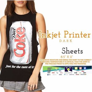 Ink Jet Printable Heat Transfer Paper For Dark Fabrics 50 Sheets Fibras Oscuras