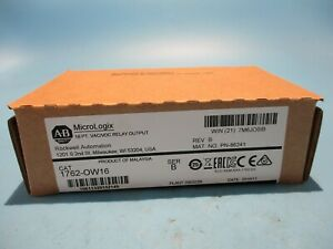 New Factory Sealed Allen bradley 1762 ow16 Ser b Micrologix Output Relay