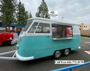 New Mobile Food Trailer Enclosed Concession Stand Trendy Bus Design 4 Hitch