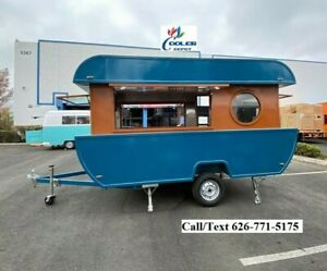 New Electric Mobile Food Trailer Enclosed Concession Stand Boat Design 4 Hitch