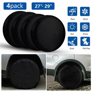 4pcs Wheel Tire Covers For Rv Truck Car Auto Camper Trailer 27 To 29 Diameter