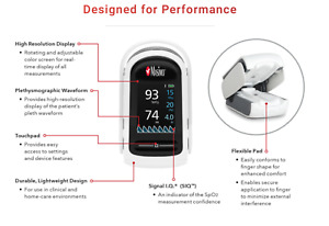 Masimo Mightysat Fingertip Pulse Oximeter With Bluetooth Le 9809 Spo2 Pr Pi