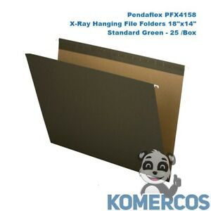 Pendaflex Pfx4158 X ray Hanging File Folders 18 x14 Standard Green 25 box