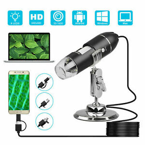 1600x 8led 3in1 Usb Digital Microscope Endoscope Zoom Camera Magnifier W Stand
