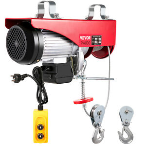 1500lbs Electric Wire Cable Hoist Winch Lifting Engine Crane Overhead Lift 110v