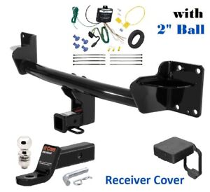 Trailer Hitch Package W 2 Ball Cover For 2007 2018 Bmw X 5