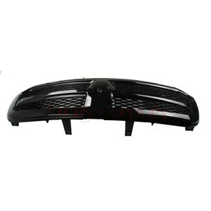 Front Upper Hood Grill Grille Honeycomb Gloss Black For Ram 1500 2013 To 2018