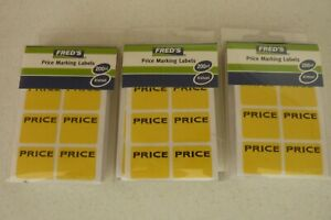 Lot Of 600 Fred s Price Labels Garage Sale Stickers Tags Rummage Flea Market