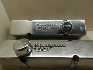 Competition Cams Aluminum Valve Covers Sbc Very Rare 70 S Tall