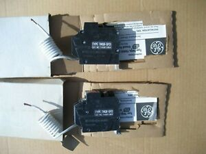 2 General Electric Thqb1120gf Ground Fault Circuit Breakers 1 pole 20 amp 120v