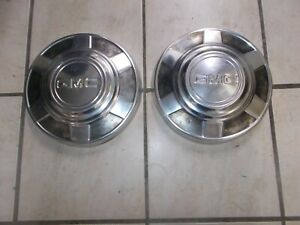 73 87 Gmc Truck Pickup 3 4 Ton 8 Lug Stainless Hubcaps Oem