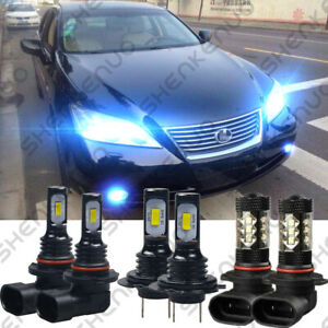 For Lexus Es350 2007 09 8000k 9005 H7 Headlight 9006 Fog Light Led Bulbs Qty 6