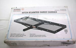 U Haul Hitch Mounted Cargo Carrier Luggage Basket Trailer 2 Receiver Tube