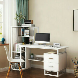 Modern Pc Computer Desk Workstation With Drawer Shelf Office Home Study Table