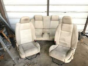 2005 2007 Ford Mustang Beige Manual Logo Seats Oem Needs Cleaned No Rips Oem