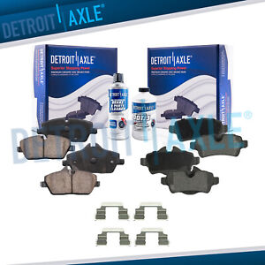 Front And Rear Ceramic Brake Pads With Hardware For 2007 2015 Mini Cooper