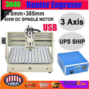 Usb 3040 Cnc Router Machine 3axis Engraving Pcb Wood Metal Carve Diy Milling Kit