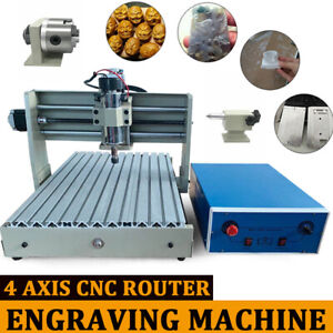 New 400w 4axis Cnc 3040 Router Engraver 3d Engraving Milling Machine Wood Cutter