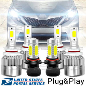 For Toyota Sienna 2006 2009 Combo 9005 9006 Led Headlight Fog Light Bulbs Kit Us