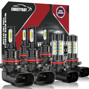 For 2003 06 Chevy Silverado 1500 6x Led Headlights Hi lo Fog Lights Bulbs Combo