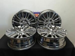 11 16 Chrysler Town Country Limited Oem Polished Chrome Alloy Wheel Set 17 Inch