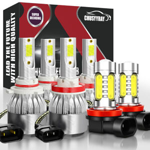 For Toyota Venza 2009 2016 6000k Led Fog Lights High low Beam Headlight Kit 6x